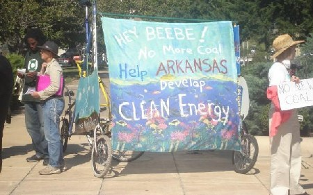 AR coal rally banner