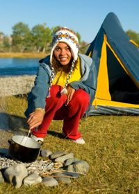 Black History Month, green camping