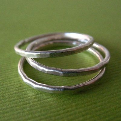 Recycled silver jewelry