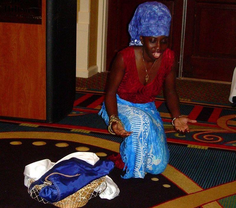 Queen Quet dances crop