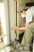 Sealing a door frame