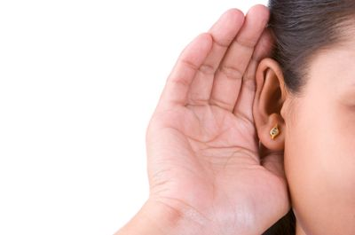 Woman.listening