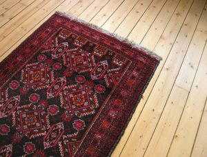 Rug on wooden floor