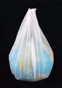Planet in a plastic bag