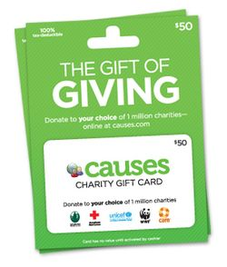 Causes gift card