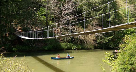 Swinging-bridge