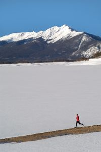 Running outside in winter