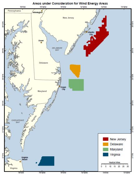 Wind areas