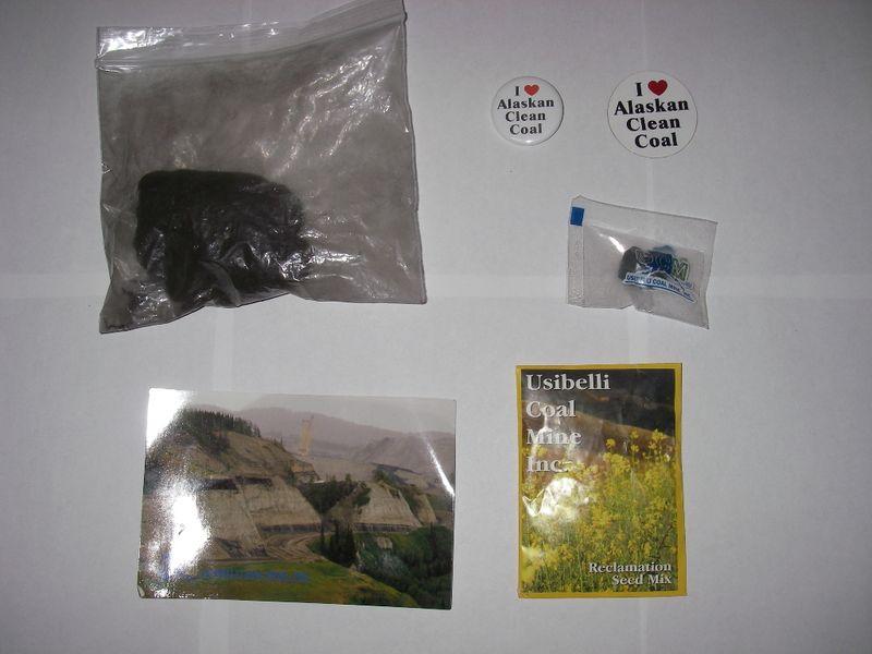 Coal gift bag contents