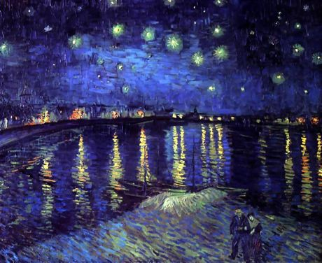 2-25-11 Starry Night over the Rhone van Gogh