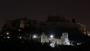 Athens during Earth Hour