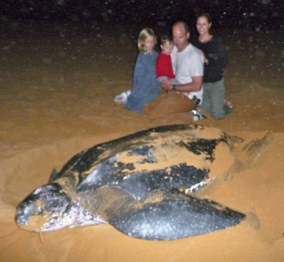 Brune Family with Leatherback