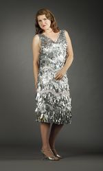 Nancy Judd in a recycled aluminum dress