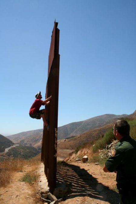 Dan Millis climbing wall