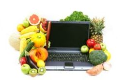 Vegetables and computer