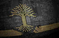 Digital circuit board tree