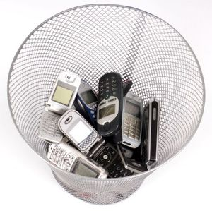 Phones in trash