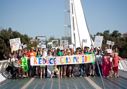 Redding's Moving Planet at the Sundial Bridge