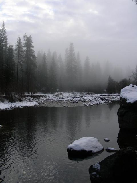 The Merced in fog