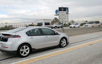 Chevrolet Volt HOV lanes