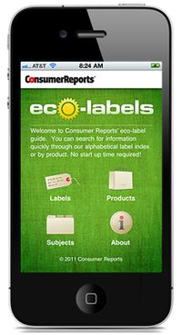 Consumer Reports eco-labels app