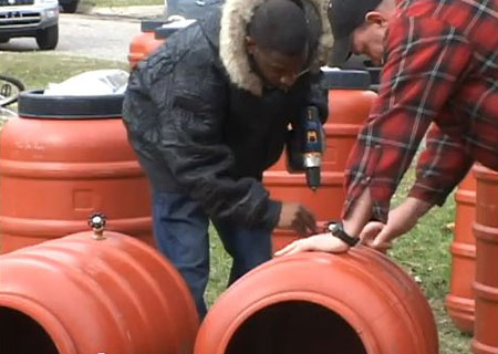 Working-on-a-rain-barrel