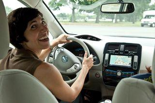 Gina driving