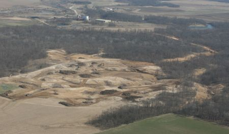 Industry strip mine in Illinois