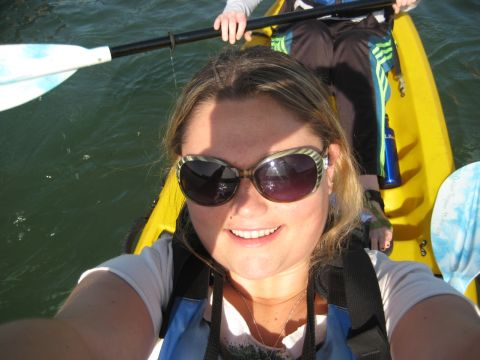Sina kayaking