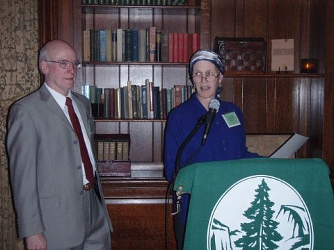 Mass. Robin Mann and Chapter Chair Dan Proctor