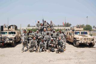 My team in Baghdad