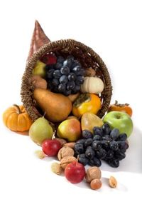 Cornucopia of seasonal fruit