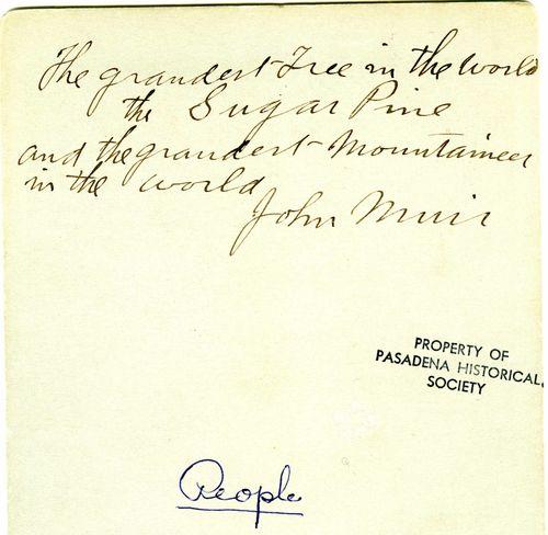 Muir, John Signature