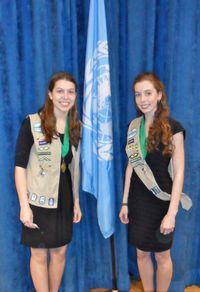 Girl Scouts awarded by UN