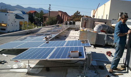 Installing-the-solar-panels