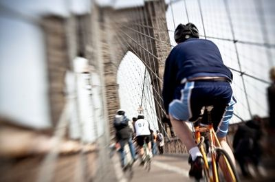 Bikes on the Brooklyn Bridge