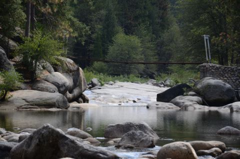 Swinging bridge wawona