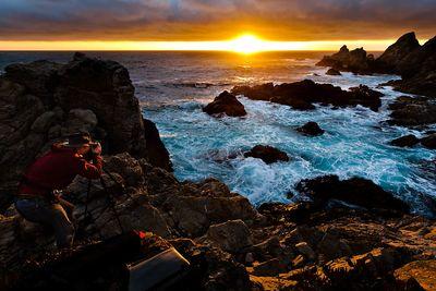 Photographer Shawn Reeder at Big Sur