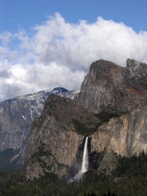 Bridalveil Fall & the Cathedral Rocks
