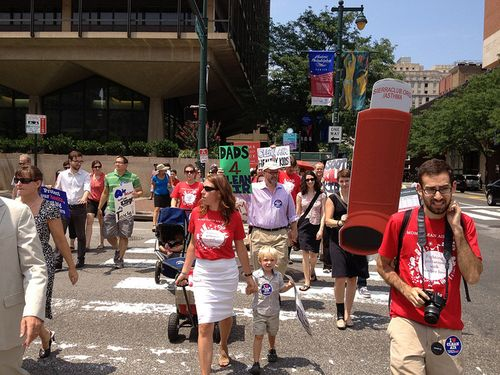 Philly stroller brigade - Photo by Kim Teplitzky