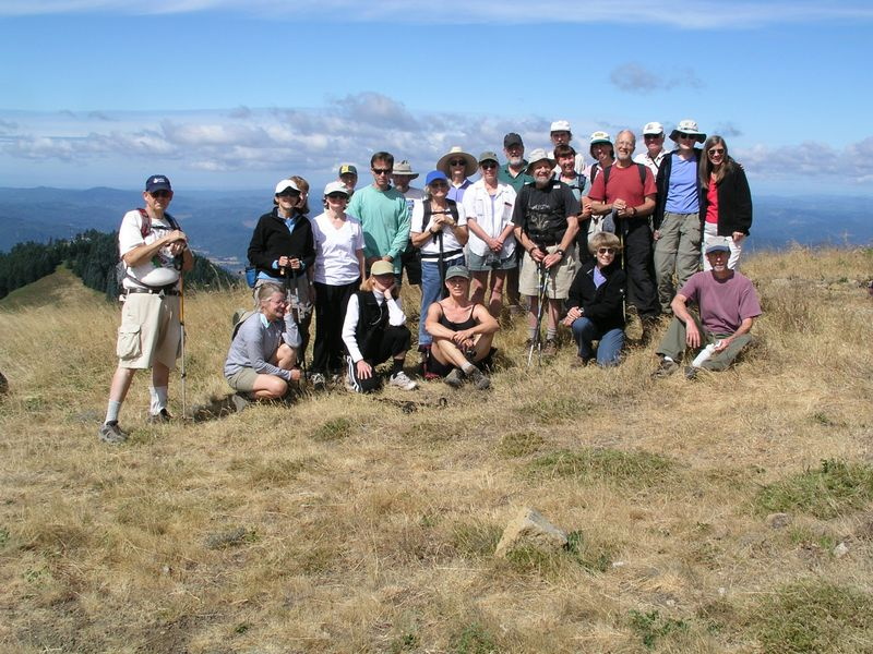Group on Marys Peak