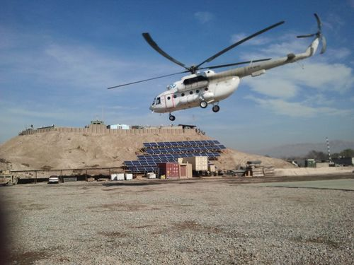 SunDial 28.2 kW mobile solar energy system in Afghanistan