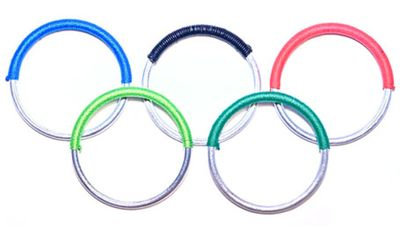 Recycled bomb shards become olympic bangles