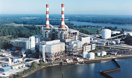 Crane-coal-plant
