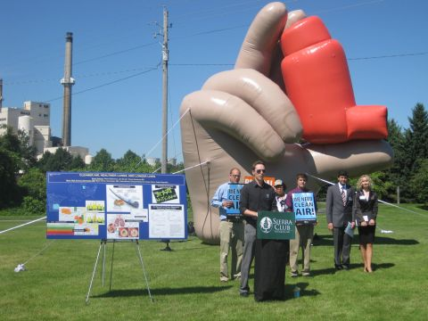 Rochester inflatable press event