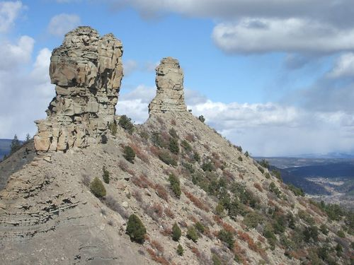 Chimney Rock spires