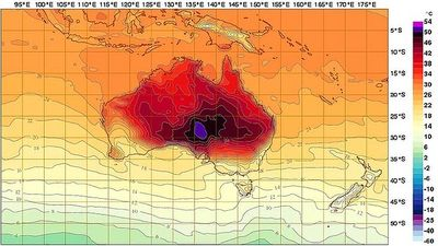 Australia temperature map