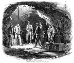 Newcastle coal mine 1855