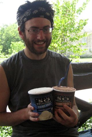 Sam Maron with ice cream