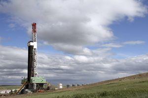 Oil rig in north dakota